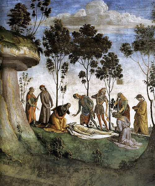 File:Luca Signorelli - Moses's Testament and Death (detail) - WGA21280.jpg