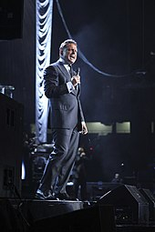 Luis Miguel performing at the 2012 People en Español festival