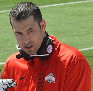 Luke Fickell - Fickell at the 2014 spring game