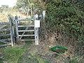 Lullington Heath - foot and mouth precautions - geograph.org.uk - 1186367.jpg