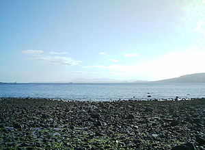 Lunderston Bay - View south down the Clyde.