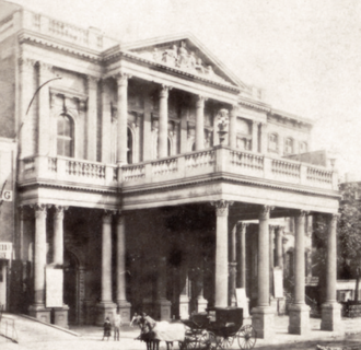 Fourteenth Street Theatre - The Lyceum Theatre c.1871, from a stereoscopic image