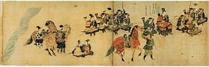 Mongol invasions of Japan - Kagesuke Shoni and his forces in Akasaka