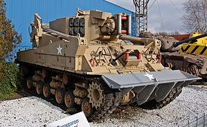 M4 Sherman based recovery vehicle.JPG