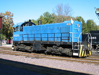 American Locomotive Company - An ALCO S-1 diesel switcher at the Mid-Continent Railway Museum, North Freedom, Wisconsin