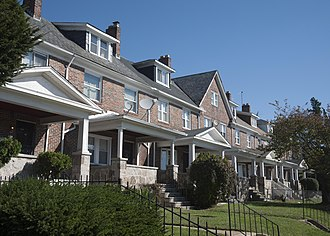 Edmondson, Baltimore - Rowhouses along Edmondson Avenue