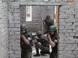 Romanian Military Police - Romanian MP training.