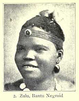 A Zulu woman of Bantu Negroid type