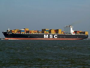 MSC Susanna, at the Amazone harbour, Port of Rotterdam, Holland 24-Feb-2006.jpg