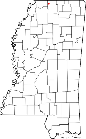 Byhalia, Mississippi location map; created wit...