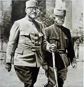 Joseph Alfred Micheler - Generals Micheler and Marchand left to right