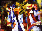 Macke, August - Mädchen unter Bäumen - 1914 - 2384 x 1773 px.jpg