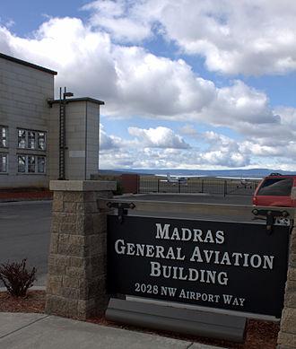 Madras Municipal Airport - Airport entrance marker