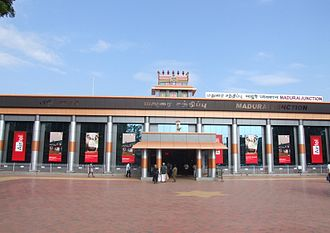 Madurai Junction railway station - The Main Entrance of the Station