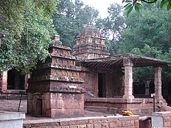 Mallikarjuna temple (at rear), a dravida style temple at Mahakuta