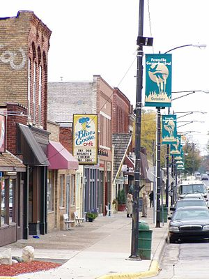 Fennville, Michigan - Main Street in Fennville