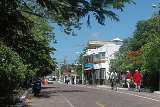 Puerto Ayora Town in Galápagos, Ecuador