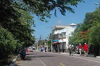 Puerto Ayora - Image: Main street, Puerto Ayora, Santa Cruz, Galapagos panoramio