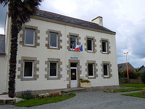 Baye, Finistère - The town hall in Baye