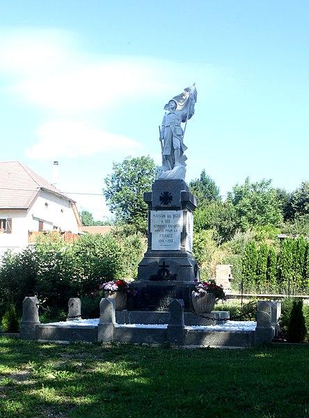 Monument aux morts à Maisons-du-Bois (Doubs).