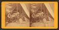Man and two girls outside entrance to a tent, by Doerr, H. A. (Henry A.), 1826-1885.png