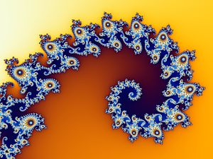 Logarithmic spiral - A section of the Mandelbrot set following a logarithmic spiral
