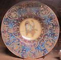 Manifattura italiana, piatto in stile rinascimentale, XIX sec.JPG