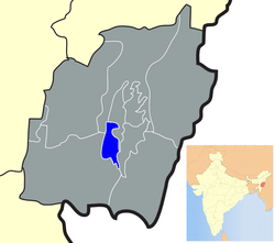 Location of Bishnupur district in Manipur