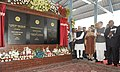 Manmohan Singh dedicating the newly constructed railway line between Banihal (Jammu region)-Qazigund (Kashmir valley) section to the Nation, in Jammu and Kashmir. The Chairperson, National Advisory Council.jpg