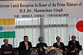 Manmohan Singh with the former Prime Ministers of Japan, Mr. Yoshiro Mori and Mr. Shinzo Abe, at the Reception, hosted by the Japan India Association and Japan India Parliamentary Friendship League, in Tokyo, Japan (1).jpg