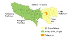 Location of Nakano