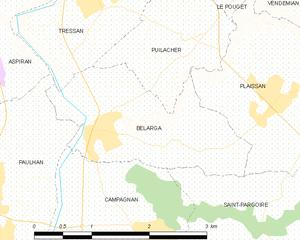 Bélarga - Map