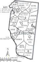 Municipalities and townships of Clermont County.