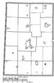 Map of Darke County Ohio Highlighting Pitsburg Village.png