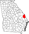 Map of Georgia highlighting Screven County.svg