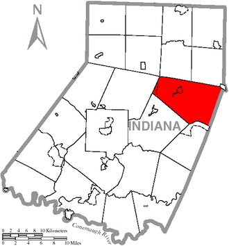 Green Township, Indiana County, Pennsylvania - Image: Map of Indiana County, Pennsylvania Highlighting Green Township