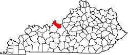 Map of Kentucky highlighting Meade County.svg