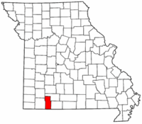 Map of Missouri highlighting Stone County.png