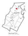 Map of Tipton, Blair County, Pennsylvania Highlighted.png