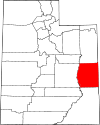 State map highlighting Grand County