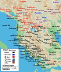 Map of ancient Epirus and environs