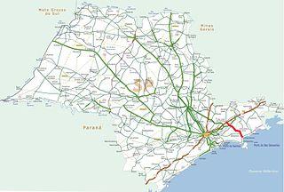 Rodovia dos Tamoios highway in São Paulo