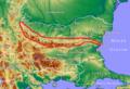 Mapa Bułgarii Stara Płanina.png