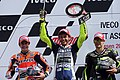 Marc Márquez, Valentino Rossi and Cal Crutchlow 2013 Assen 4.jpg