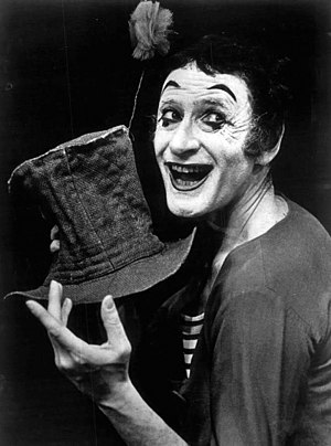 Marcel Marceau - Marceau as Bip the Clown in 1974