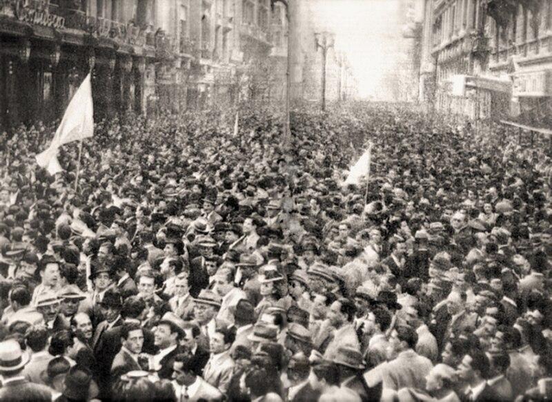 Marche de la Constitution contre Peron le 19 septembre 1945