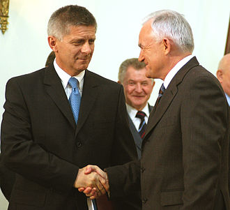Leszek Miller - Leszek Miller with Marek Belka (2004)