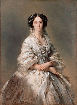 Maria Alexandrovna in 1857, door Franz Xaver Winterhalter