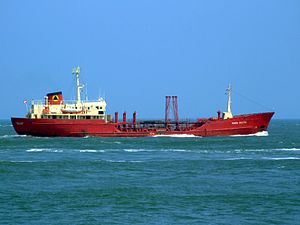 Maria Soltin p3 approaching Port of Rotterdam, Holland 03-Jun-2007.jpg
