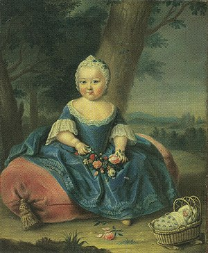 Maria Theresa - Three-year-old Maria Theresa in the gardens of Hofburg Palace
